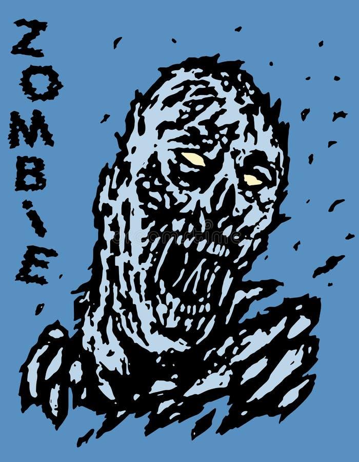 Soffiato via dal demone dello zombie del vento Illustrazione di vettore illustrazione vettoriale