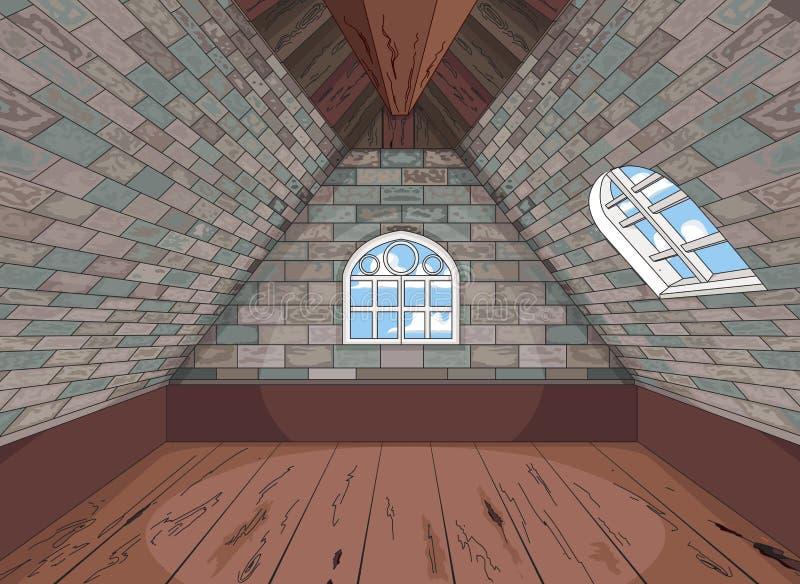 Soffitta medioevale illustrazione vettoriale