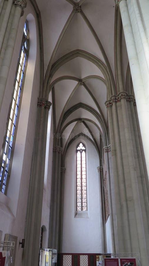 Soffitto arcato della chiesa immagine stock libera da diritti