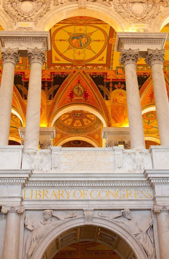 Soffitto del congresso delle biblioteche in Washington DC immagini stock
