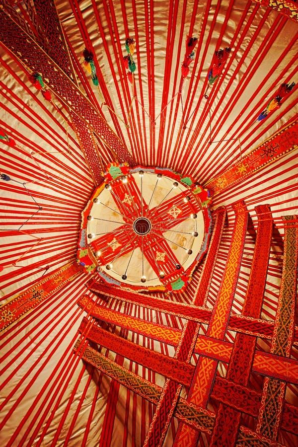 Soffitto del Kazakistan Yurt fotografie stock