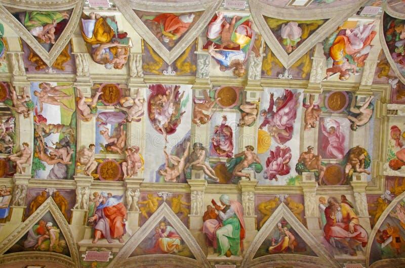 Soffitto della cappella di Sistine immagine stock libera da diritti