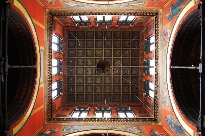 Soffitto della chiesa di trinità di Boston fotografia stock libera da diritti