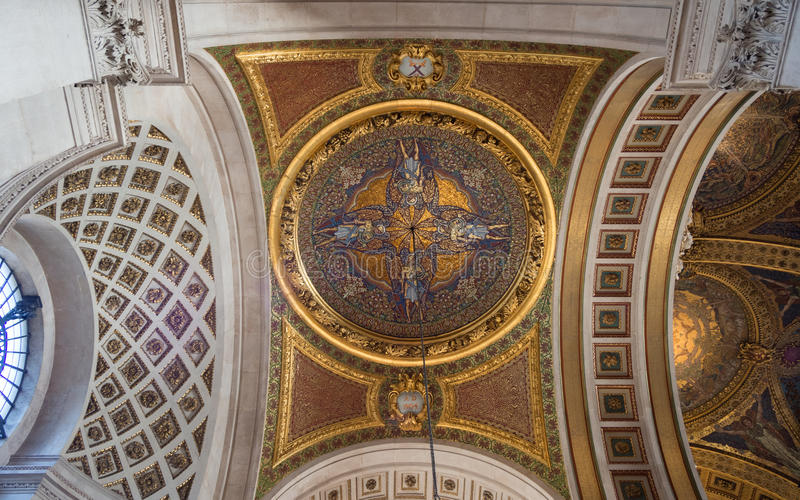 Soffitto della st Pauls Cathedral fotografia stock libera da diritti