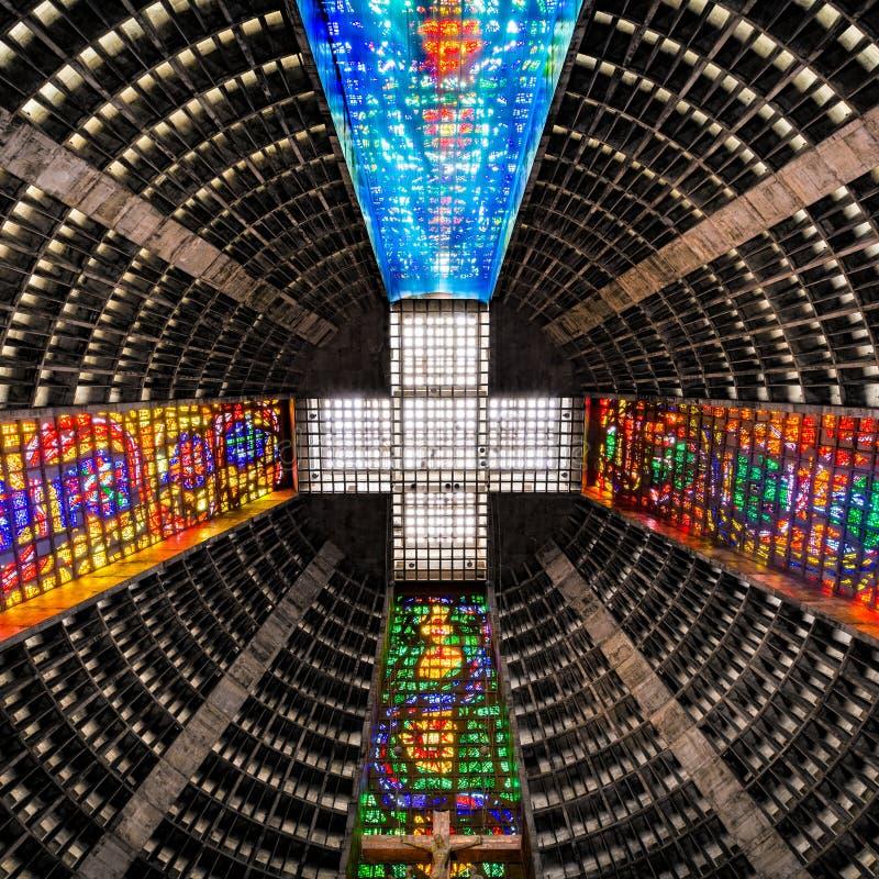 Soffitto dentro la cattedrale metropolitana fotografia stock