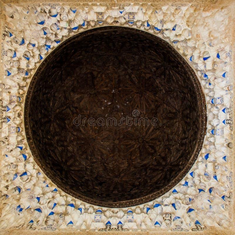 Soffitto di Alhambra fotografia stock
