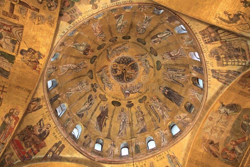 Soffitto di Basilica di San Marco a Venezia, Italia immagine stock