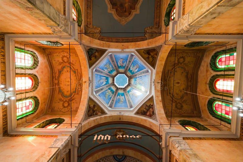Soffitto di cattedrale di Manaus Brasile immagini stock libere da diritti