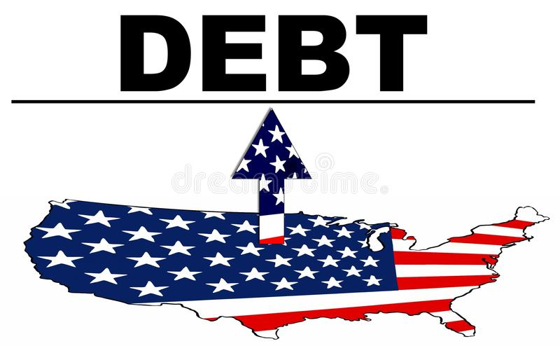 Soffitto di debito illustrazione vettoriale