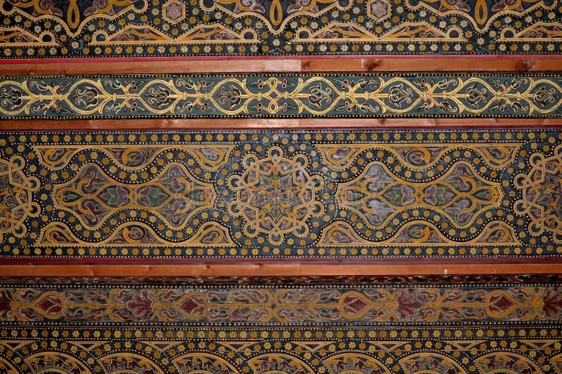 Soffitto di moresco, Moschea-cattedrale di Cordova. fotografie stock