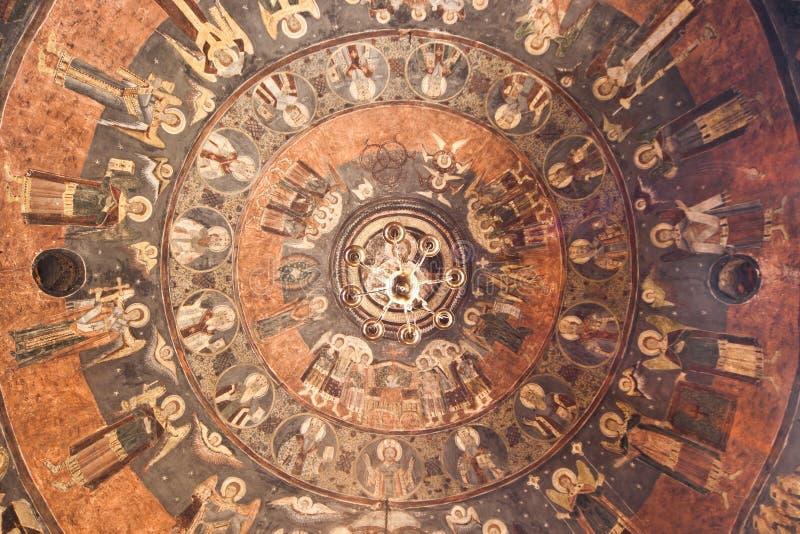 Soffitto di una chiesa ortodossa fotografie stock libere da diritti
