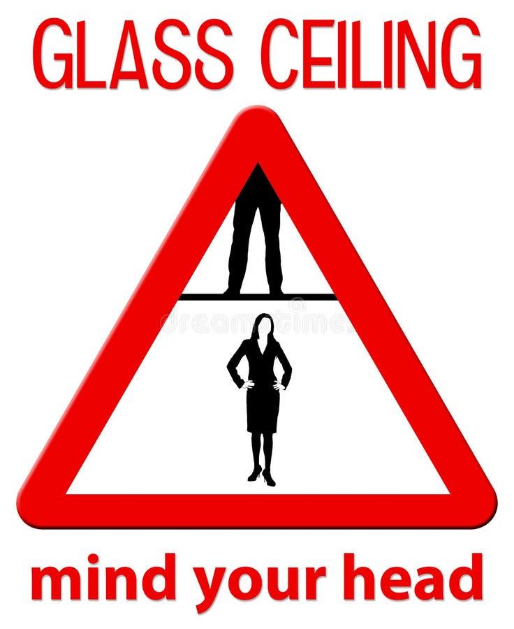 Soffitto di vetro illustrazione vettoriale