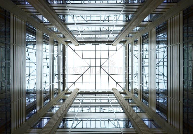 Soffitto di vetro del modello fotografie stock