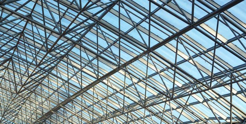 Soffitto di vetro moderno fotografie stock