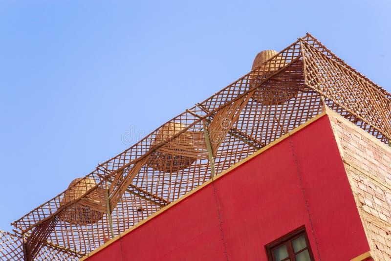 Soffitto fatto di bambù fotografie stock libere da diritti