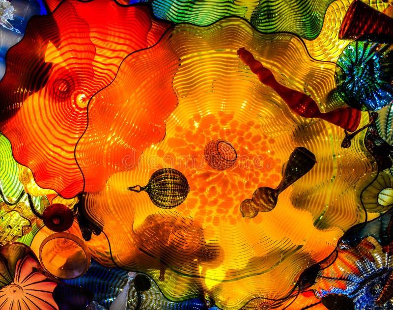 Soffitto, giardino di Chihuly e vetro persiani immagini stock