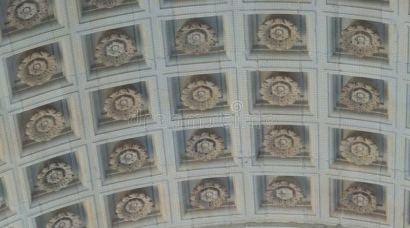 Soffitto gotico a Manchester, NH fotografie stock libere da diritti