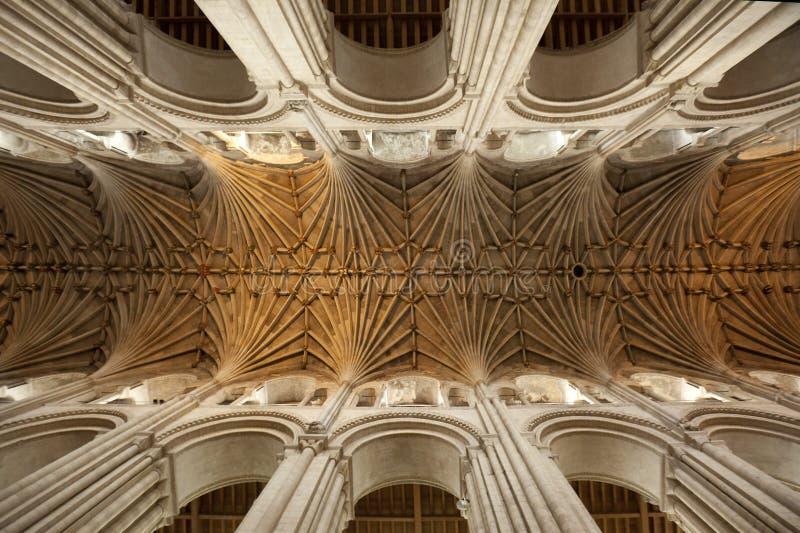 Soffitto Vaulted - cattedrale di Norwich - l'Inghilterra fotografie stock libere da diritti