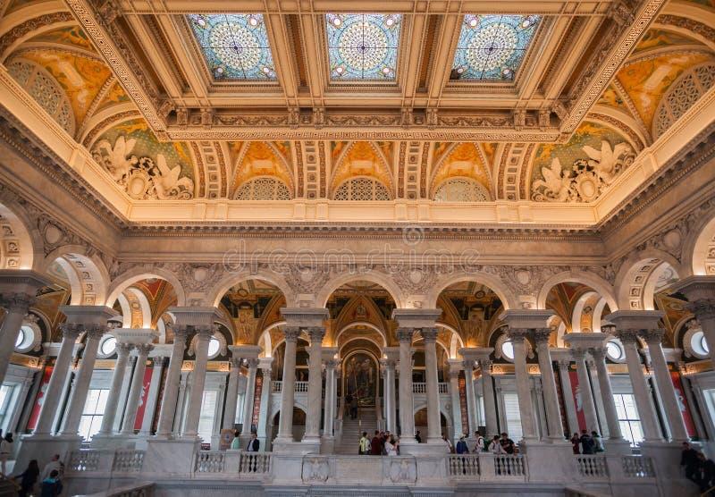 Soffitto Washington della biblioteca del congresso fotografia stock