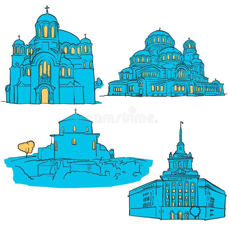 Sofia Bułgaria Barwioni punkty zwrotni ilustracji