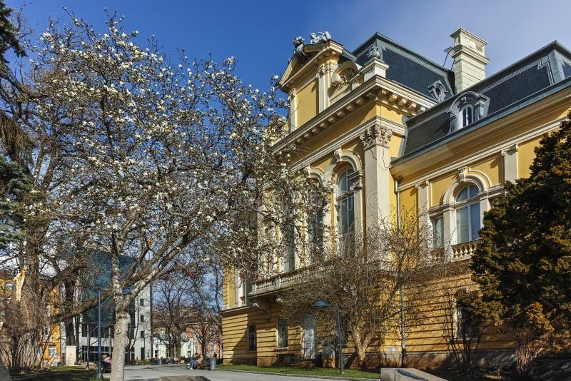 SOFIA BUŁGARIA, MARZEC, - 17, 2018: Budynek Krajowa galeria sztuki Royal Palace, Sofia obraz royalty free