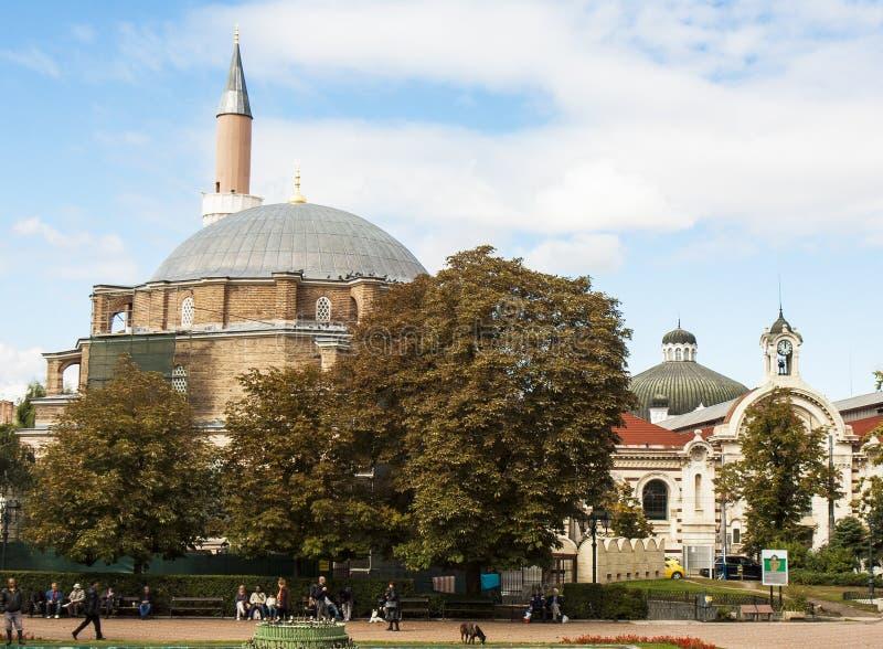 SOFIA BUŁGARIA, PAŹDZIERNIK, - 09, 2017: Djamilia meczet, budowa w 1576 rok zdjęcia stock