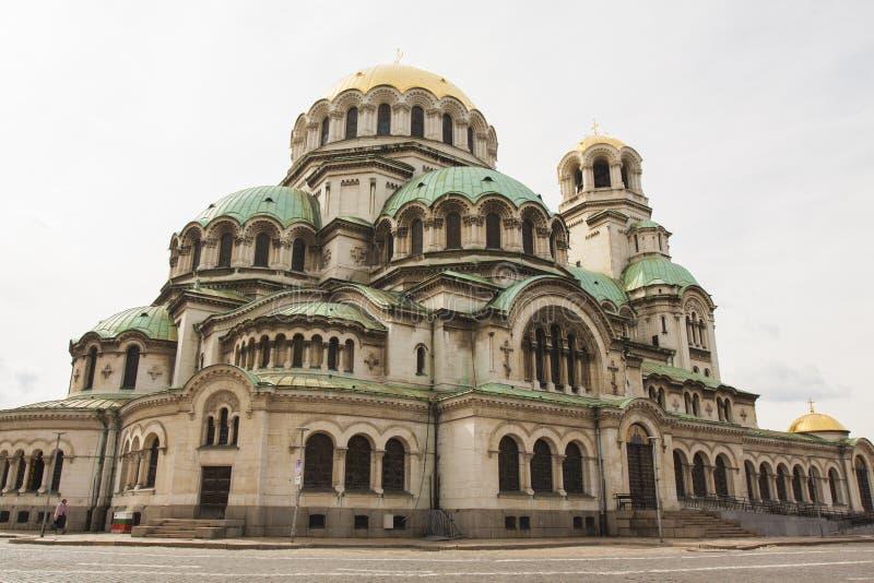 SOFIA BUŁGARIA, PAŹDZIERNIK, - 06, 2017: ortodoksyjna katedra Alexan obraz royalty free