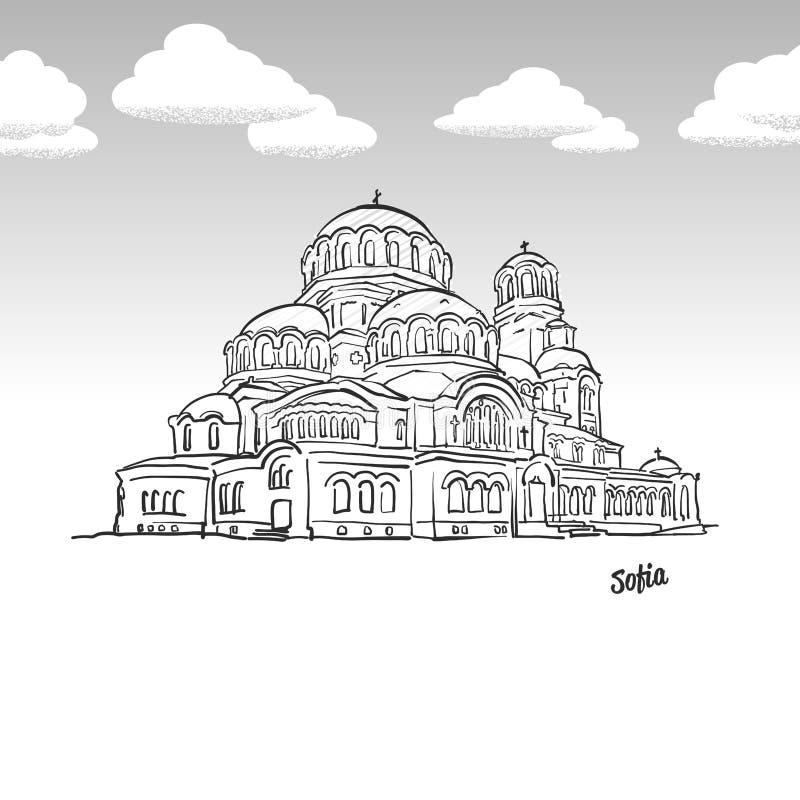 Sofia, Bułgaria sławny punktu zwrotnego nakreślenie royalty ilustracja