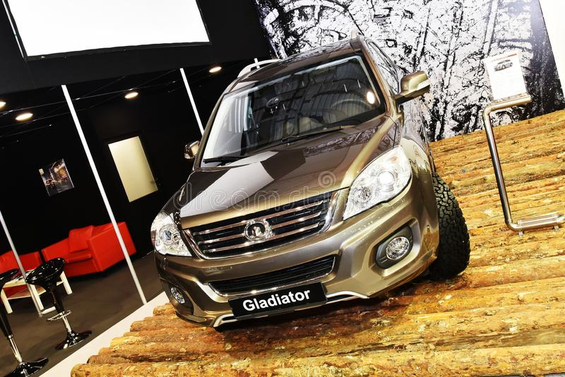 Sofia, Bulgária, 13 de outubro de 2017: GreatWall H6 Gladiator Edition no Sofia Motor Show fotos de stock