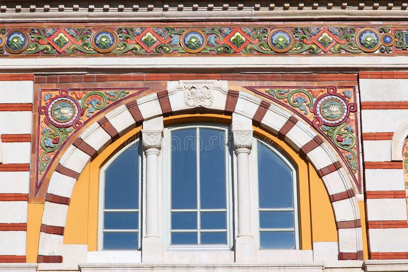 Sofia, Bulgaria. Famous Central Mineral Baths building. Vienna Secession architecture style royalty free stock photos