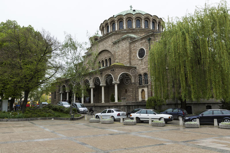 SOFIA, BULGARIA - APRIL 14, 2016: St Nedelya Church (Nagia Nedelja) , Holy Sunday Church is an Eastern Orthodox church in royalty free stock images