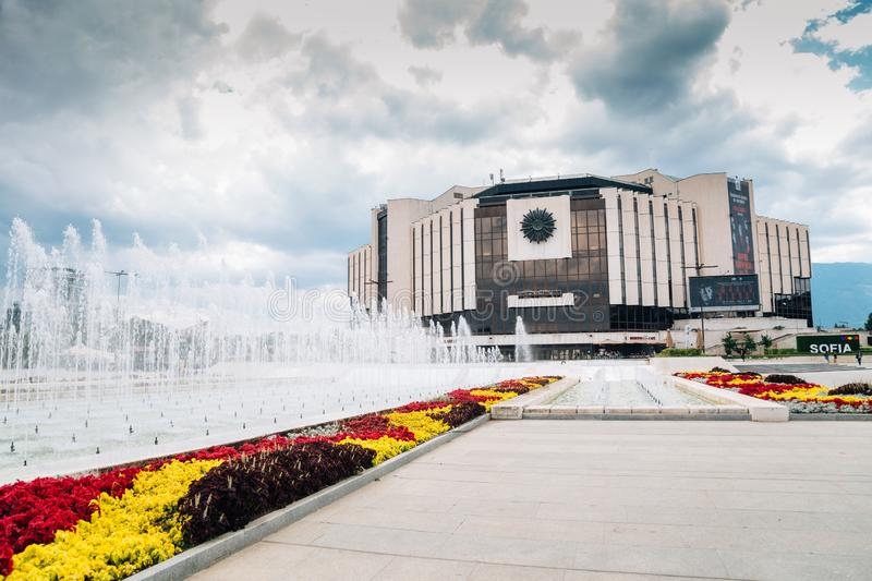 National Palace of Culture in Sofia, Bulgaria stock images