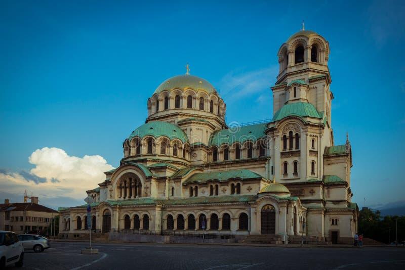 SOFIA, BULGARIA 23.07.2018: CATHEDRAL OF ALEXANDER NEVSKI. SOFIA, BULGARIA 23072018 CATHEDRAL OF NEVSKI royalty free stock photos