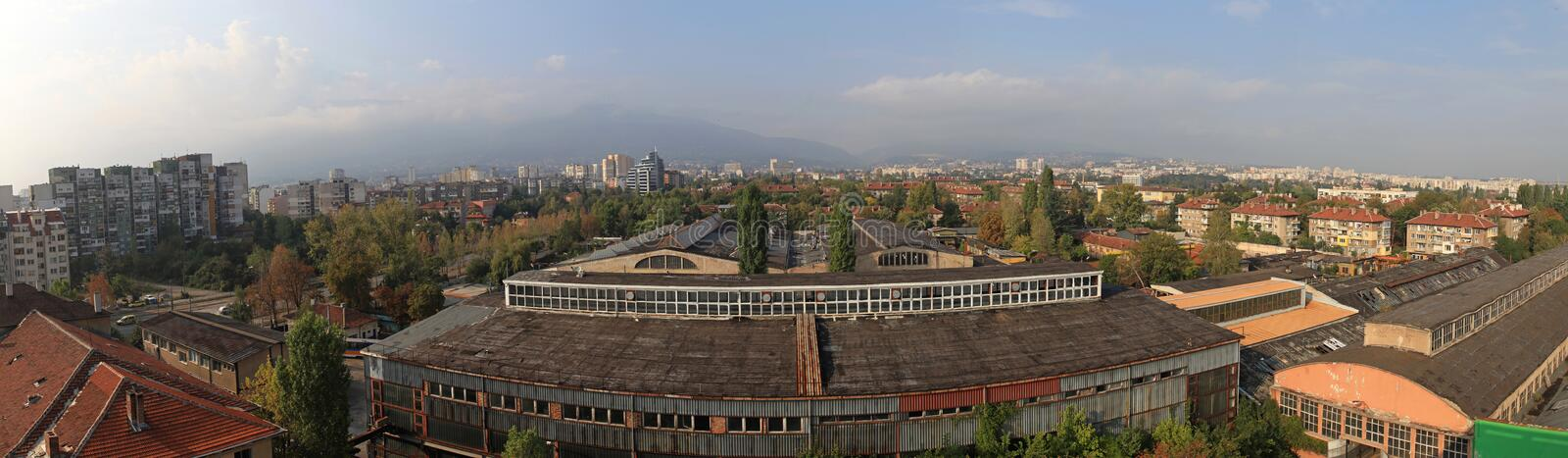Sofia Bulgaria Cityscape stock photo