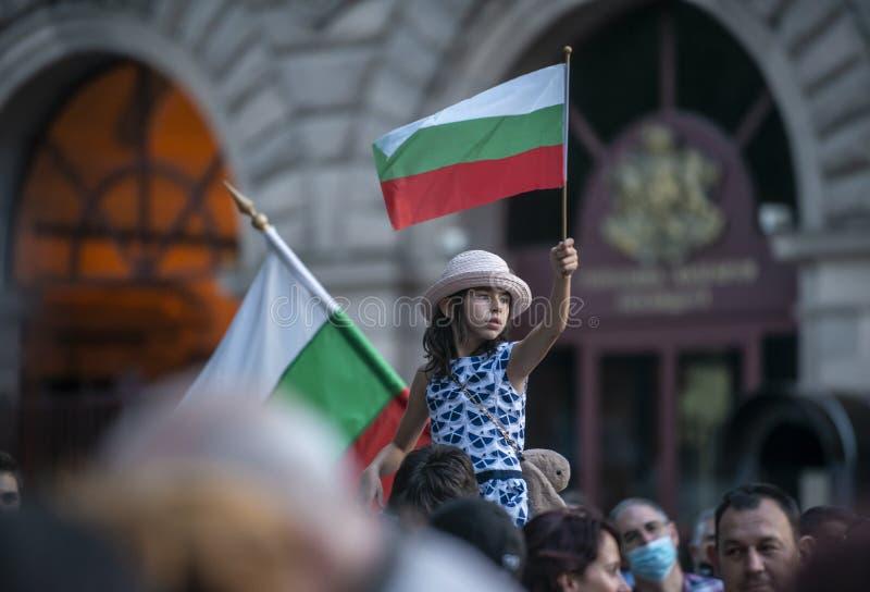 Anti-government protests in Sofia continue stock photo