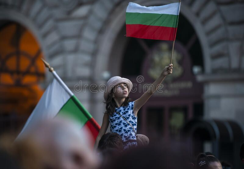 Anti-government protests in Sofia continue royalty free stock photography