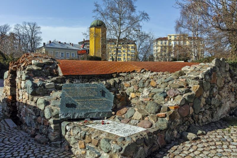 SOFIA, BULGARIA - MARCH 17, 2018: Remnants of sixteenth century Turkish barracks in Sofia. Bulgaria royalty free stock photography