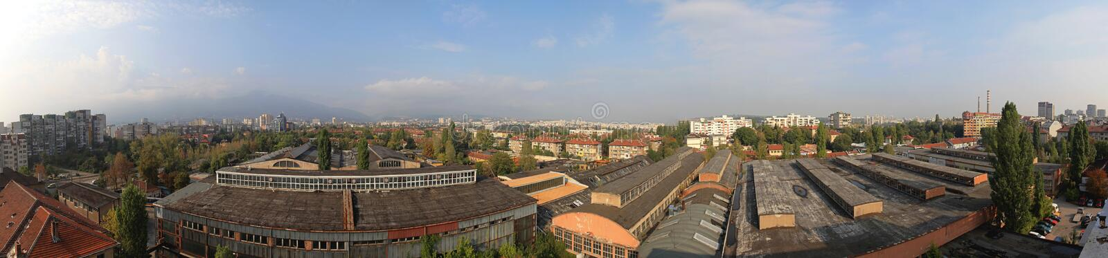 Sofia Bulgaria Panorama stock photography