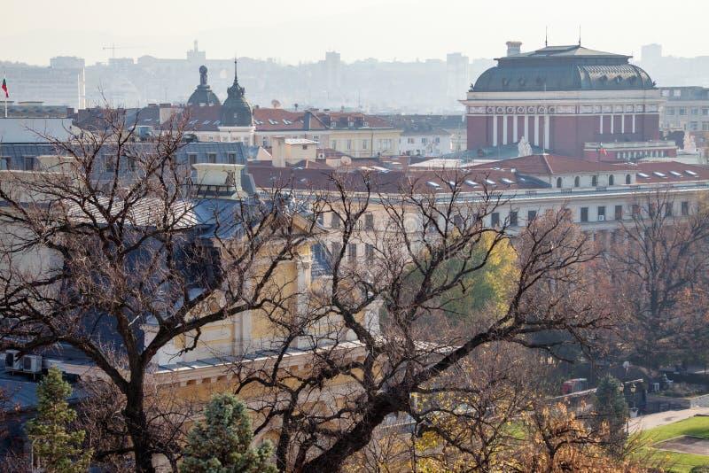Sofia Bulgaria Rooftops imagen de archivo