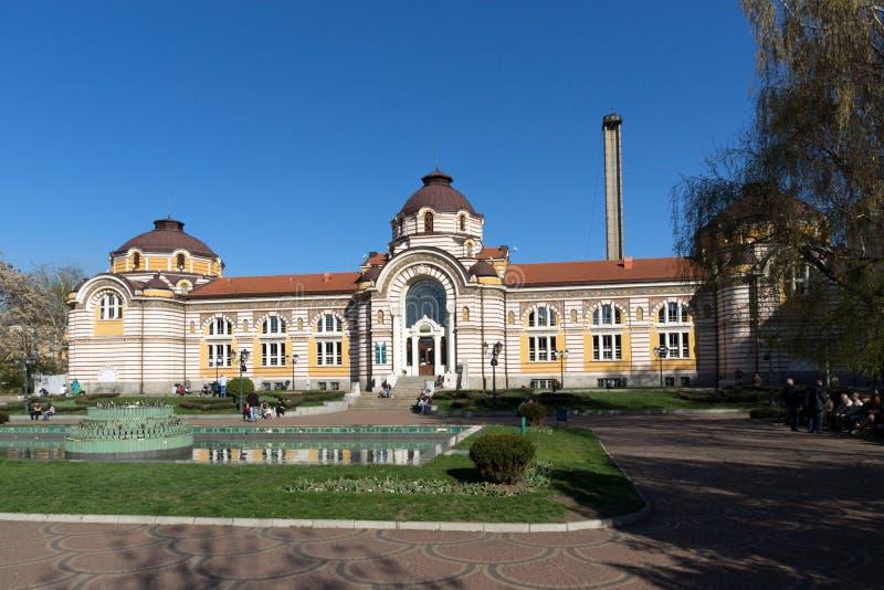 SOFIA BULGARIEN - APRIL 1, 2017: Centralt mineraliskt bad - historiemuseum av Sofia royaltyfri bild