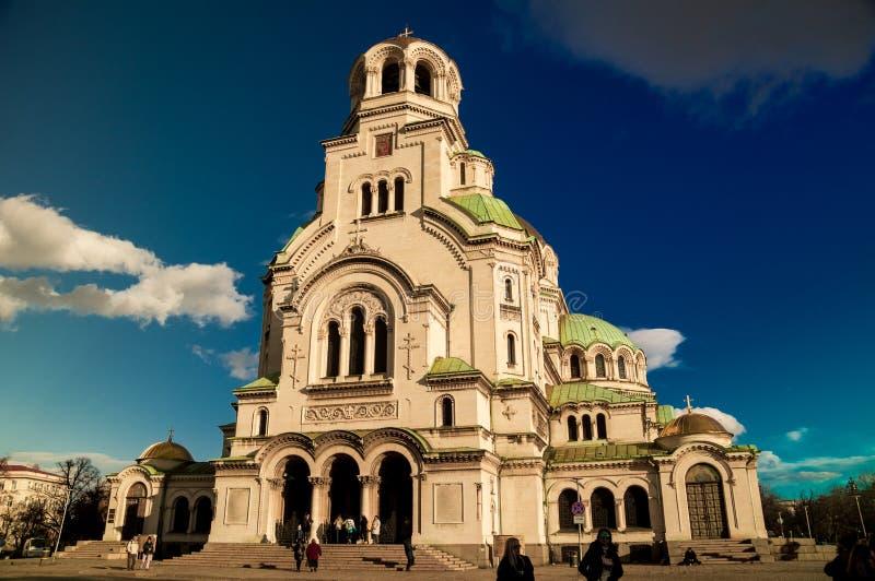SOFIA, BULGARIEN am 9. Dezember 2018: KATHEDRALE VON ALEXANDER NEVSKI lizenzfreies stockfoto