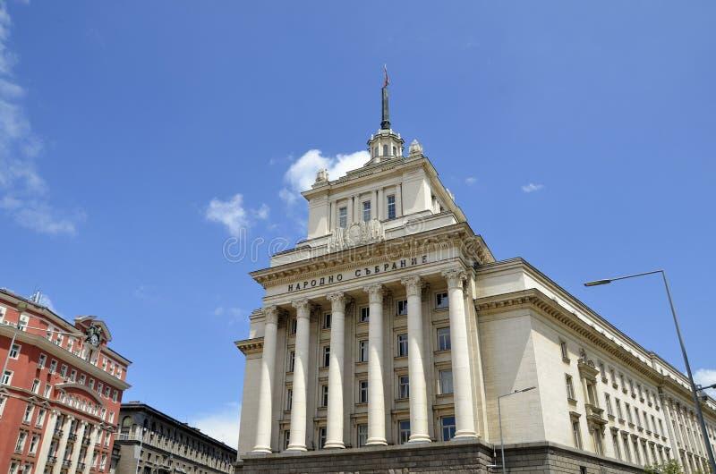 Sofia Bulgarien - Largobyggnad royaltyfria foton