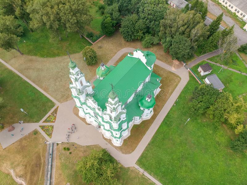 Sofia Cathedral in Polotsk, Belarus. Drone HDR-photo royalty free stock photo