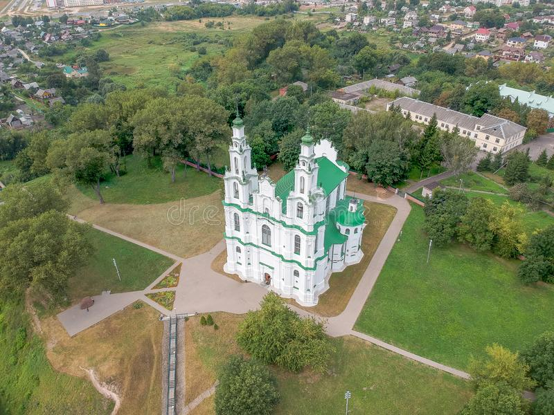 Sofia Cathedral in Polotsk, Belarus. Drone HDR-photo royalty free stock images