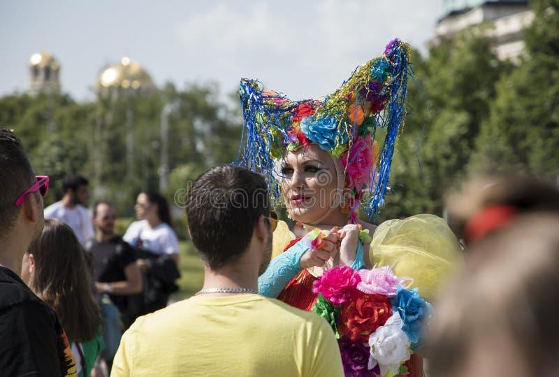 Sofia duma Parada, tęcza fotografia stock