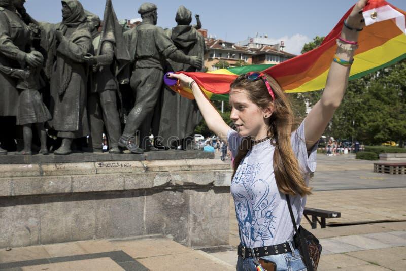 Sofia duma Parada, tęcza zdjęcia royalty free