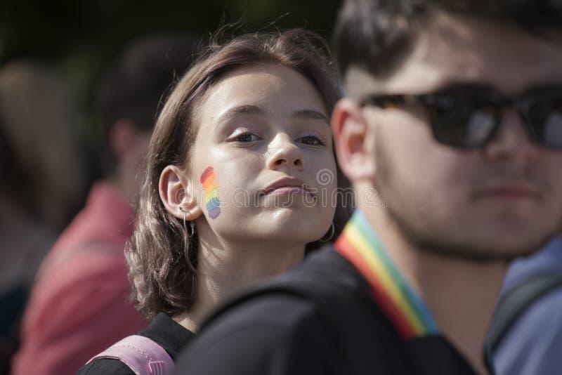 Sofia duma Parada, tęcza obrazy stock