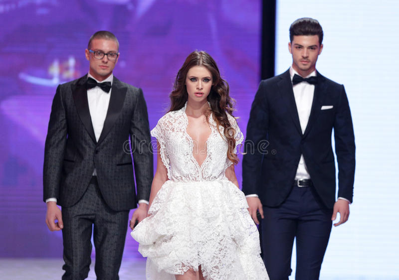Sofia Fashion Week wedding dress royalty free stock photos