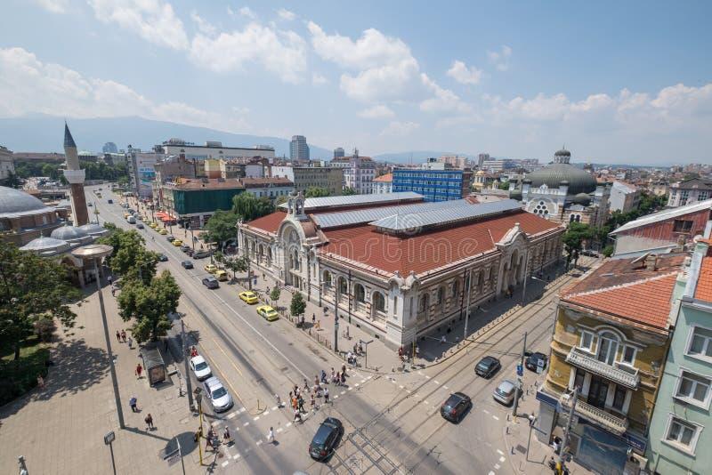 Sofia i stadens centrum Bulgarienhuvudstad arkivfoton
