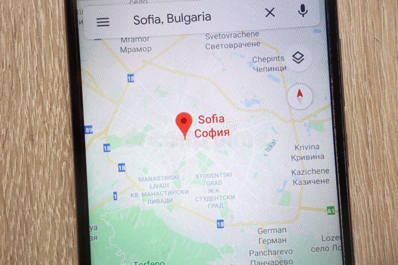 Sofia Location On Google Maps Displayed On A Modern Smartphone